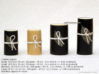 CANDB-TAB101 - Bamboo candles in black, maroon, light brown and natural finishes. Wholesale bamboo candles from Thailand