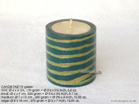 CANDB-TAB110 - Bamboo candle holders with candle, bamboo table candles in black, green light brown, maroon, and natural finishes, manufacturer, exporter wholesale directly from Thailand