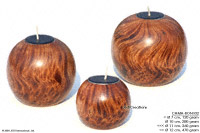 CAMA-BRC117 Tiger, wholesale ball shaped mango wood candle holder; handmade in Thailand