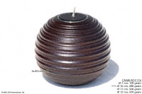 CAMA-BOP104 Rings, wholesale ball shaped mango wood candle holder; handmade in Thailand