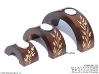 Wholesale Mango Wood Candle Holders, Thailand