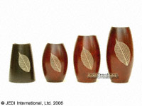 CAMA-TCD101 Solid, tapered cone wholesale mango wood candle holders; northern Thailand artisans direct
