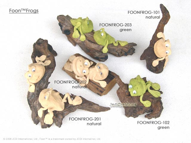 FOONFROG-10X-20X sculpted looney frogs on branches and roots, manufacturer, exporter, wholesale supplier directly from Thailand, manufacturer, exporter, wholesale supplier directly from Thailand