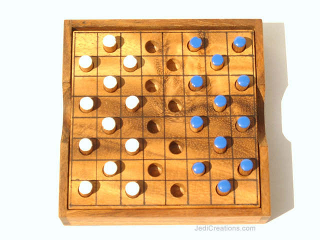 Wooden Board Games:  Wholesale Checkers (small), manufacturer exports directly from Thailand - CHECKERS-S