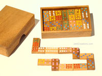 Details: Dominoes: wholesale wooden games, manufacturer exports, Thailand
