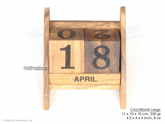 Large Calendar: wholesale wooden games, manufacturer exports, Thailand