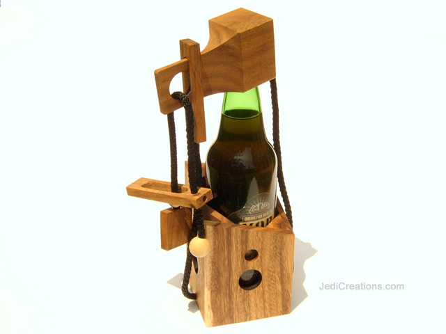 Wooden Board Games: Bottle Lock, manufacturer exports directly from Thailand