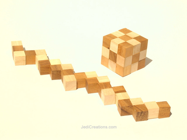 Wooden Board Games:  Wholesale Snake Cube, manufacturer exports directly from Thailand - Dominoes