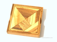 Details: Tangram: wholesale wooden brain teasers, manufacturer exports, Thailand