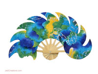 FANHA-101 Moon - Wholesale Paper Fans, manufacturer wholesale directly from Thailand, JediCreations