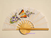 Wholesale hand held fan, folding fan in artificial silk, manufacturer direct - FANHA-309-10