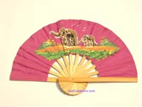 Wholesale hand held fan, folding fan in artificial silk, manufacturer direct - FANHA-303-10