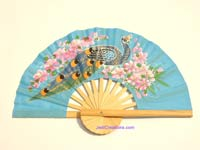 FWholesale hand held fan, folding fan in artificial silk, manufacturer direct - FANHA-304-10