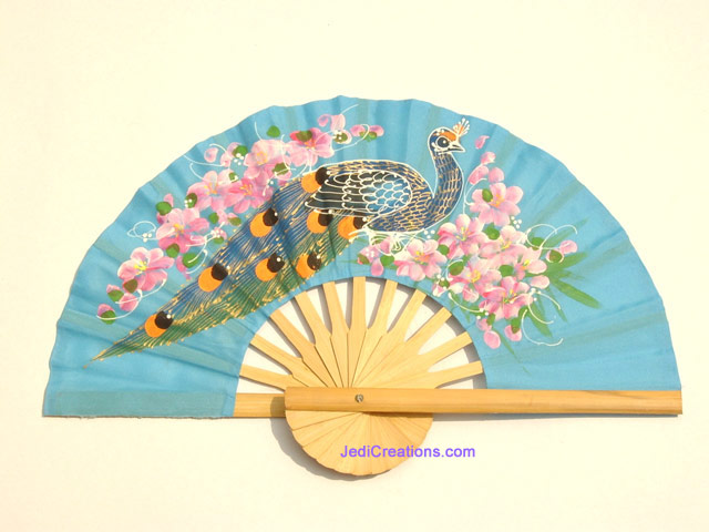 Hand Held Fans : Wholesale hand held fans in artificial silk manufacturer