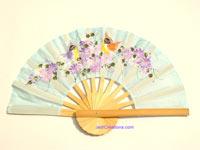 FWholesale hand held fan, folding fan in artificial silk, manufacturer direct - FANHA-306-10