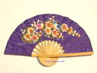 Wholesale hand held fan, folding fan in artificial silk, manufacturer direct - FANHA-307-10