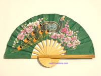 Wholesale hand held fan, folding fan in artificial silk, manufacturer direct - FANHA-38-10