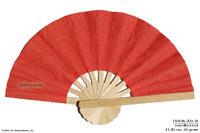 Cafe 24 Jam Mulberry-paper-fan-plain-vermilion-red-fanha-200-p485u-DSCF3036_200x133
