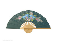 FULL IMAGE:FANWA-GS109 - Hand Painted Asian Wall Fans - Wholesale, Manufacturer Artisans Thailand