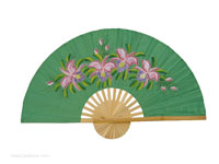 FULL VIEW: FANWA-GS111 - Hand Painted Asian Wall Fans - Wholesale, Manufacturer Artisans Thailand