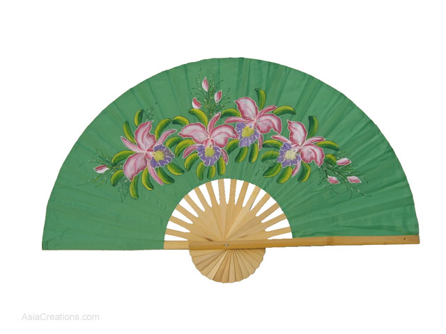 full view fanwags111 hand painted asian wall fans wholesale