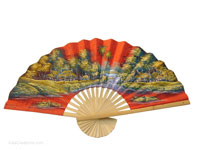 FULL VIEW: FANWA-GS115 - Hand Painted Asian Wall Fans - Wholesale, Manufacturer Artisans Thailand