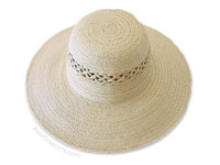 HATL-104 - Sisal Sun Hats: Ladies wide Rim Sisal Hat, Round top, with Braided Vents, wholesale directly from Thailand