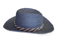 HATU-101 - Sisal Sun Hats: Men's and Ladies Unisex Hat with Matching Ribbon, wholesale directly from Thailand