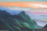 "Acrylic artist painting ""Mountain View"" AWC-75x57 MC1001, exporter wholesale directly from northern Thailand"
