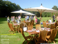 UK: PARASA-501-200 Garden Parasols without base, directly by customer in UK, used one time at outdoor wedding party