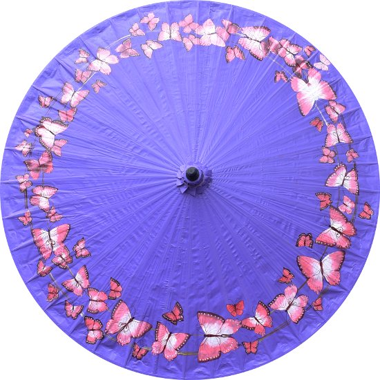 Made-to-order Purple and gold color Thai parasol size M