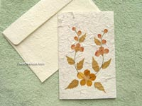 SAACA-BFL105 Saa paper greeting card decorated with dried flowers - manufacturer, exporter, wholesale directly from Thailand