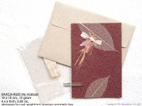 Click for larger image: SAACA-RL001A6 maroon -  Mulberry paper greeting cards