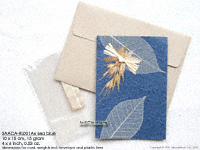 Wholesale Rubber Leaf Greeting Cards, Handmade Botanical Art on Mulberry Paper Cards
