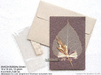 Click for larger image: SAACA-RL002A6 brown - Mulberry paper greeting cards