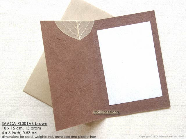 Wholesale mulberry paper greeting cards manufacturer artisans saaca rl standard example of opened card with leaflet m4hsunfo