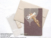 Click for larger image: SAACA-RL003A6 brown - Mulberry paper greeting cards