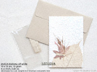 Click for larger image: /SAACA-RL005A6 off-white - Mulberry paper greeting cards