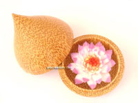 Soap Flowers in Decorative Coconut Wood Containers :  container soap flowers jedi creations coconut wood