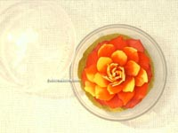 Carved soap flower in plastic container SOAPFL-CP10, manufacturer, exporter, wholesale supplier directly from Thailand