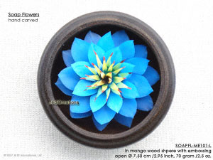 Hand carved Soap Flower Types, Designs and Colors - Manufacturer, exporter, wholesale directly from Thailand