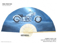 FULL IMAGE:FANWA-GA101 Fat Boy I - Hand Painted Asian Wall Fans - Wholesale, Manufacturer Artisans Thailand