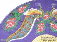 DETAIL IMAGE: FANWA-GS101 Dragons - Hand Painted Asian Wall Fans - Wholesale, Manufacturer Artisans Thailand