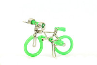 Wholesale Mini Wire Art Mountain Bikes - Green