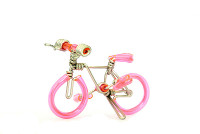 Wholesale Mini Wire Art Mountain Bikes - Pink