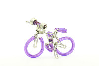 Wholesale Mini Wire Art Mountain Bikes - Purple