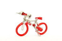 Wholesale Mini Wire Art Mountain Bikes - Red