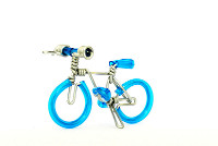 Wholesale Mini Wire Art Mountain Bikes - Skyblue