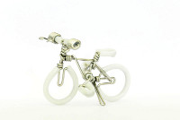 Wholesale Mini Wire Art Mountain Bikes - White