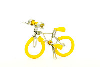 Wholesale Mini Wire Art Mountain Bikes - Yellow